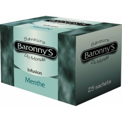 Infusion menthe 25 sachets Barronny's