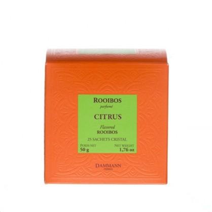 Rooibos Citrus 25 sachets cristal Dammann