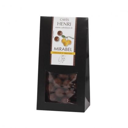 Chocolat croustillant finement parfumé à l'eau de vie de mirabelles