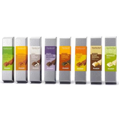 Barres de chocolat aux saveurs du monde