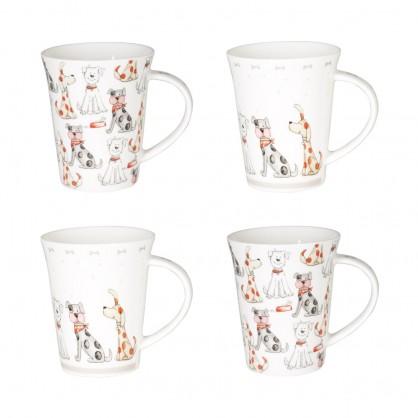 Coffret 4 mugs 35cl - Motif chien
