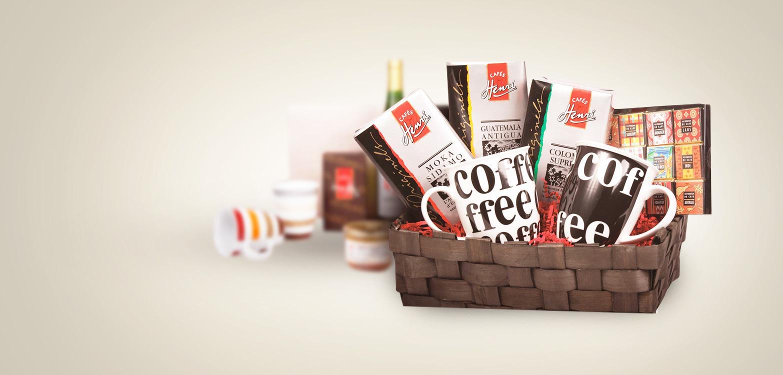 Panier Cadeau Café : Cadeaux gourmands caf?s henri boutique