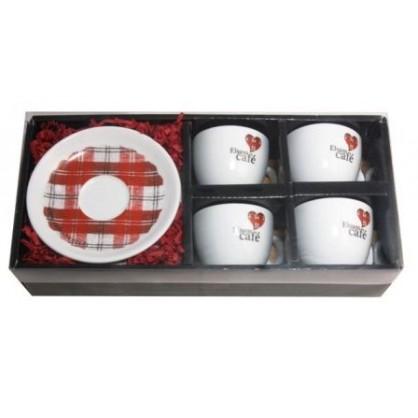 Coffret de 4 Elsass tasses Cappucino