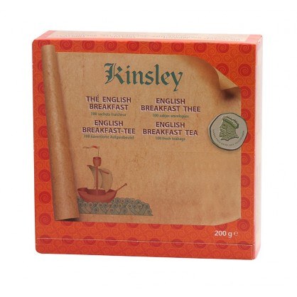Thé noir English breakfast Kinsley 100 sachets Marco Polo