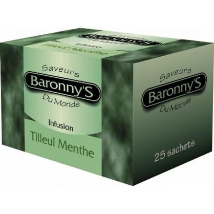 Infusion tilleul menthe 25 sachets Barronny's