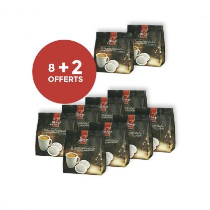 8 pochons de 18 dosettes dégustation + 2 pochons offerts