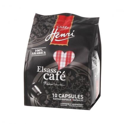 Elsass café - Pochon de 10 capsules compatibles Nespresso