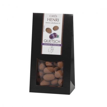 Chocolat croustillant finement parfumé à l'eau de vie de Quetsche