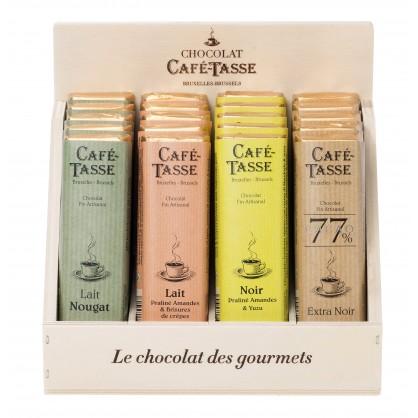 Assortiment de tablettes en chocolat