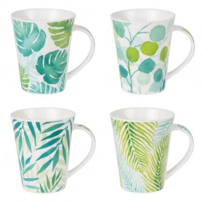 """Coffret 4 mugs 35cl motif """"poule"""""""