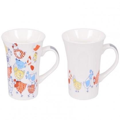 Coffret 2 mugs XL 55cl - Motif poule