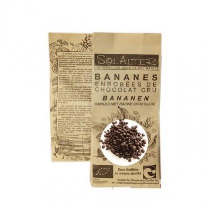 Bananes enrobées de chocolat noir cru bio