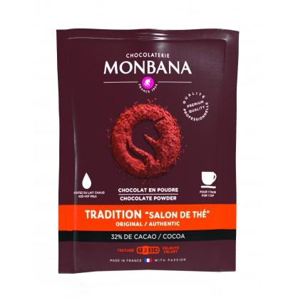 100 doses de chocolat en poudre 32% cacao non lactée