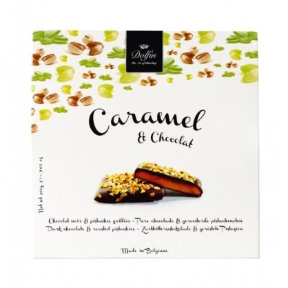 Caramel chocolat noir et pistaches grillées 200g