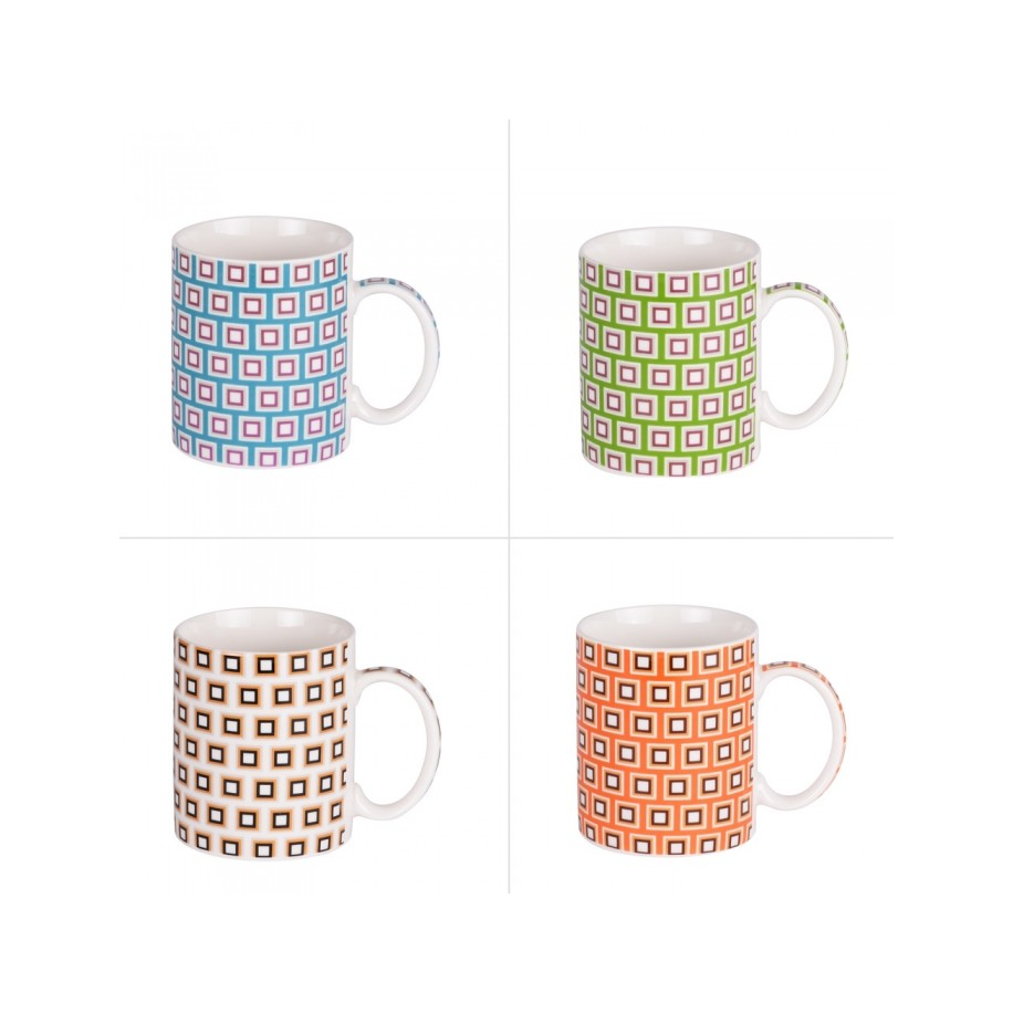 Coffret de 4 mugs JANE