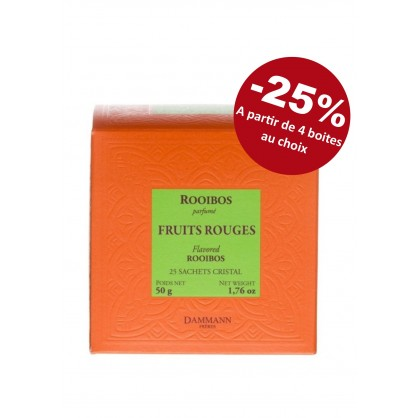 Rooibos Fruits rouges 25 sachets cristal Dammann