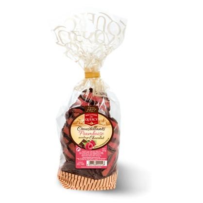 Croustillant framboise enrobage chocolat