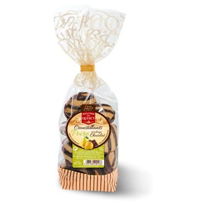 Croustillant poire enrobage chocolat