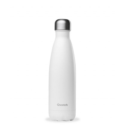 Bouteille isotherme 500ml mat blanc