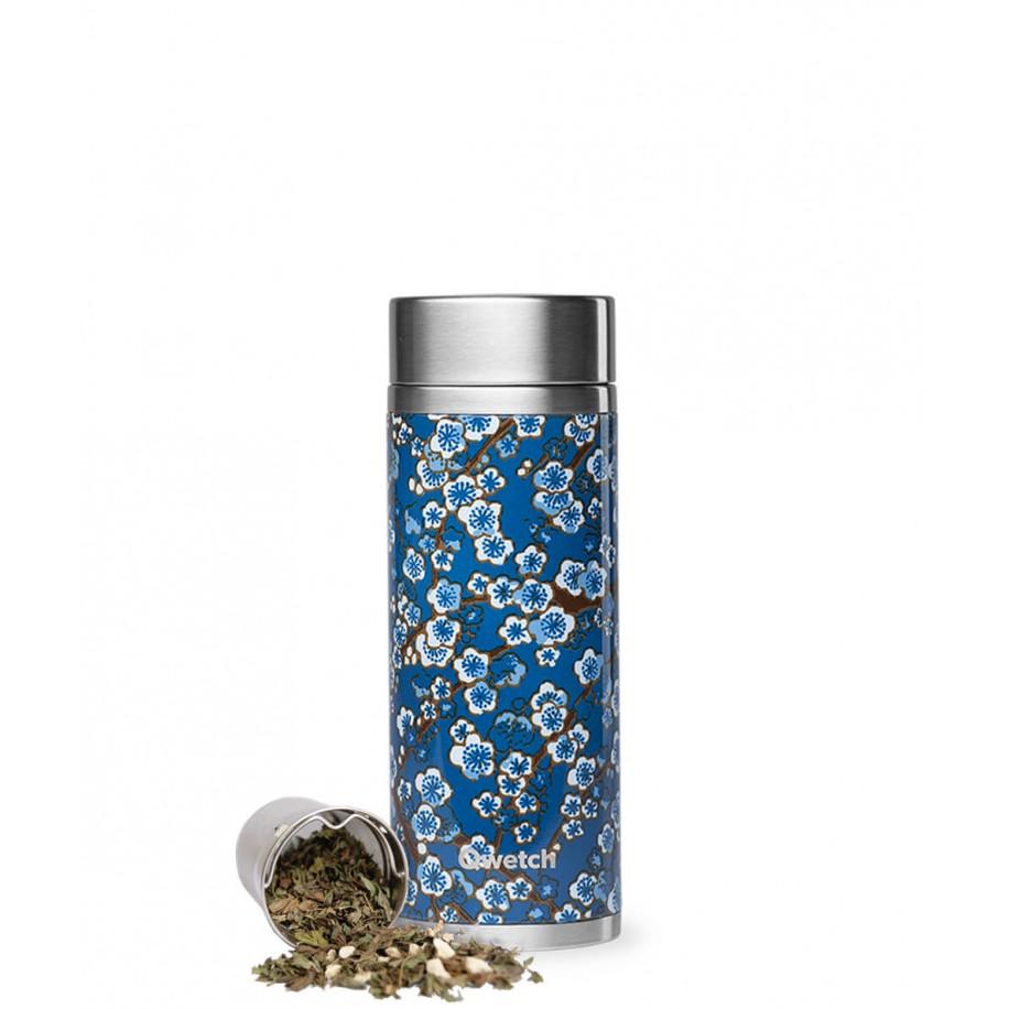 Théière Flowers isotherme 300ml inox bleue