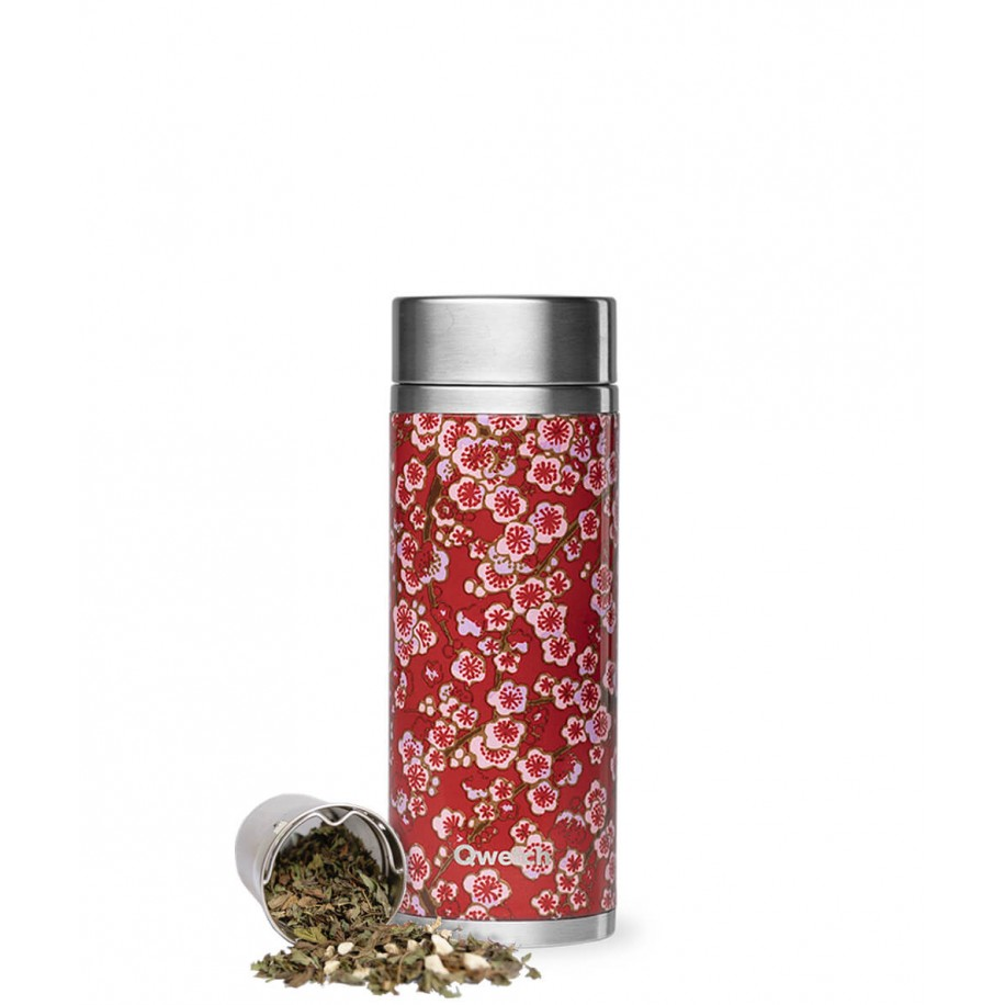Théière Flowers isotherme 300ml inox rouge