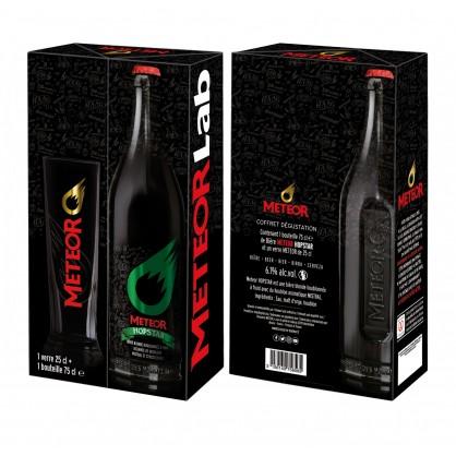 Coffret Meteor 1 verre 25cl 1 bouteille