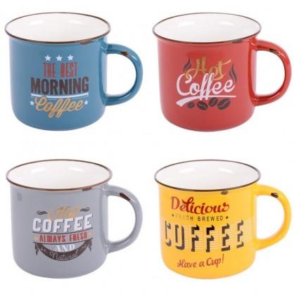 Coffret de 4 mugs Vintage 35cl