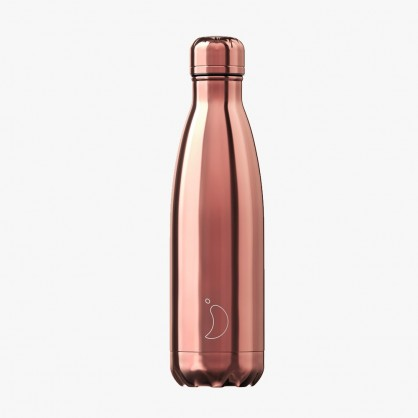 Bouteille isotherme 500ml Chrome Rose