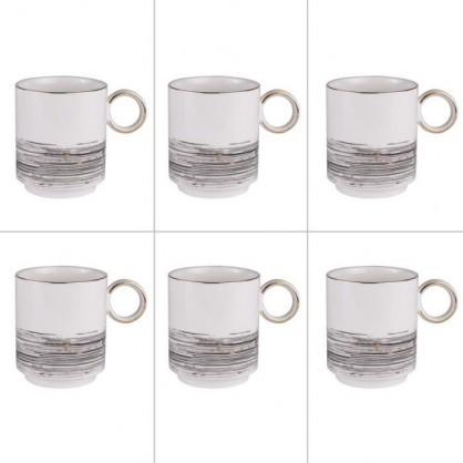 Coffret 6 mugs 38cl Comète