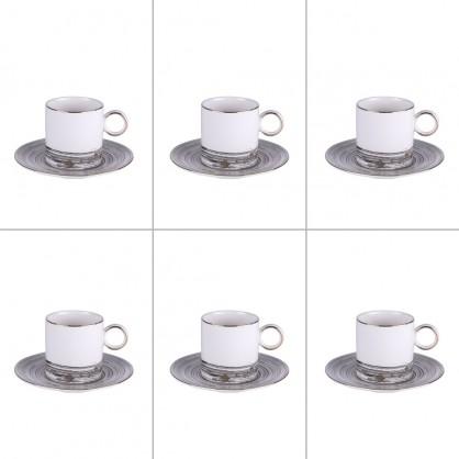 Coffret 6 tasses 11cl Comète