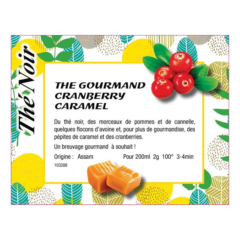 Thé noir Cranberry caramel